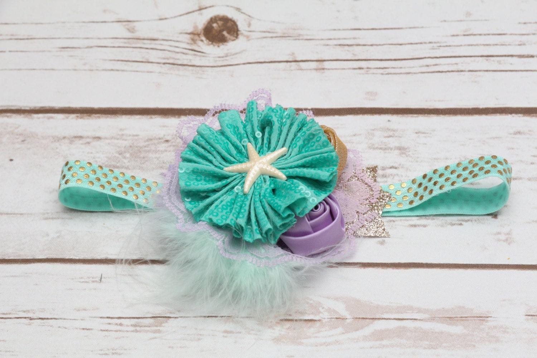 Mermaid newborn headband Ariel headband under the sea