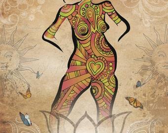 Pelvic Floor Indy Goddess Print