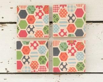 Modern Coasters, Wood Coaster, Decorative Coasters, Wood Coaster Set, Retro Kitchenware, Housewarming, Home Decor, Tea Coasters, Coasters