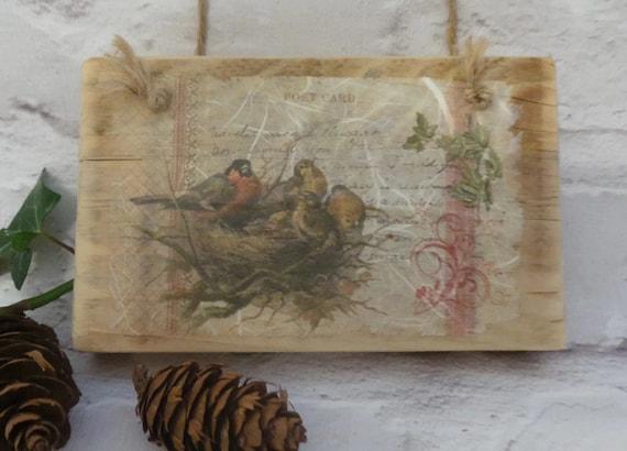 Wooden Birdhouse Wall Decor : Bird reclaimed wood sign wooden signs wall art rustic