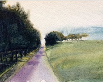 Gerhard Richter, landscape painting, tree painting