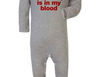 Baby Romper ' Wrestling is in my Blood' Wrestling Baby Romper - Sleep Suit
