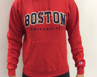 University of Boston Red Hoodie Size S
