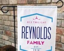 Monogram Yard Flag, Camo Yard Flag, Backyard art, Custom Yard Flag,