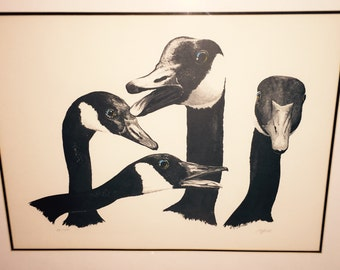 Wildlife goose print signed and numbered