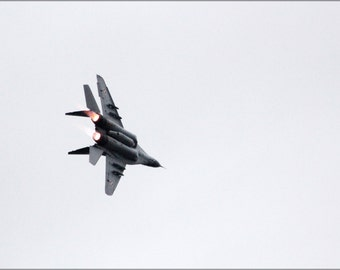 24x36 Poster . Mig-29A 67 Flying Aerobatics Over Oulu Airport P2
