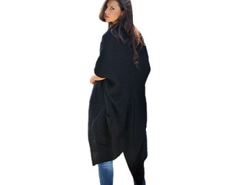 Asymmetrical Long & Warm Sweater Coat