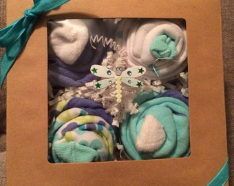 Boxed set of 4 Baby Outfit Cupcakes Absorba Girl Baby Shower Gift