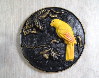 Miller Studios Chalkware Canary Wall Plaque