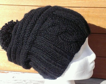 Bad hair day hat, Cool winter hats, Adventure hats, funny hats, Knit beenies, Black hats, Black slouchy beanie, Black beanie, Hipster hat