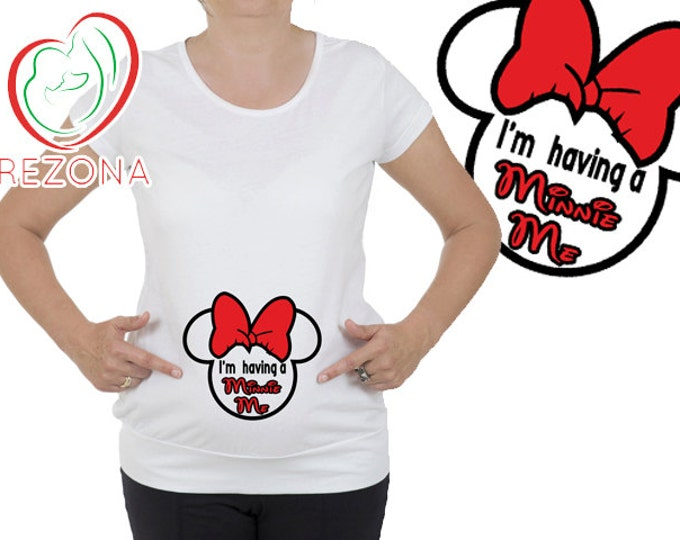 I'm Having A Minnie Me Maternity Shirt, Minnie Mouse Maternity Shirt, Disney Mickey, Minnie Me Maternity Shirt, Mom to be tee, Baby Shower