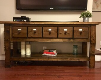 Apothecary Console Table