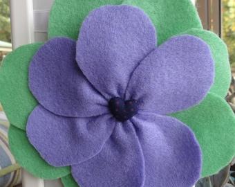 Felt Poppy Flower Hair Clip