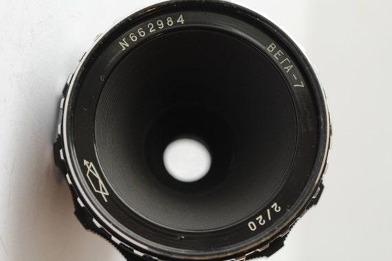 Lens Vega-7 20mm/f2 from 16mm film movie camera Krasnogorsk bayonet KMZ И662984