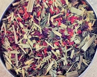 Rose Hips, Lemongrass, Lemon Balm, Oats, Nettle and Cinnamon Tea - organic herbal tea - dried herbs - herbal tea - organic tea