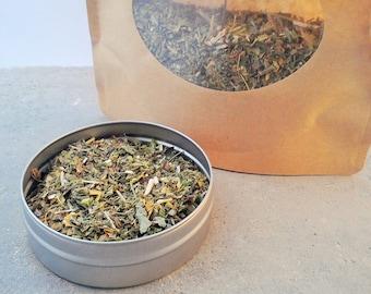 Peaceful Lemon Balm Herbal Tea - dried herbs - organic herbs - caffeine free - herbal teas - calming tea