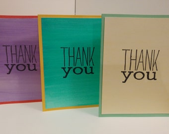 Thank You cards colorful set