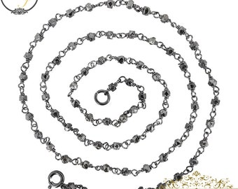 Sterling Silver Chain Necklace Jewelry, Long Chain Necklace Silver Jewelry, Designer Chain Necklace Jewelry, Handmade Necklace Jewelry