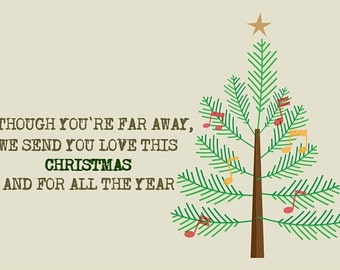 Haiku Christmas Card - Christmas Tree