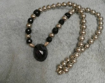 Natural Dark Blue Saphire Necklace, 21 inch