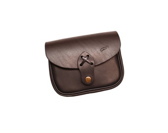 Leather belt pouch  - bushcraft leather pouch