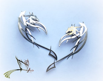 Ear Cuff Dragon Guardian | Elf Ear Cuff | jewelry art | Sterling Silver Ear Cuff