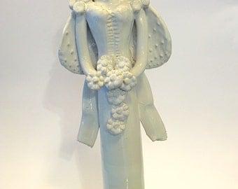 MATRANGELA ALI FICODINDIA white glazed ceramic hand made Christian parenting.