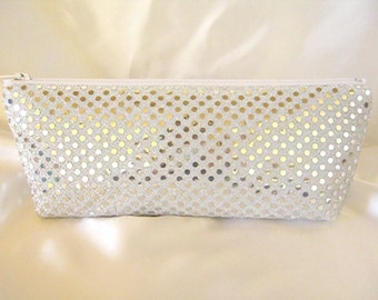 Silver Sequin Clutch - Silver Sequin Bag - Bridesmaid Sequin Clutch - Holiday Clutch - Special Occasion - Winter Formal Clutch