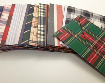 Handmade Envelopes - Tartan Plaid