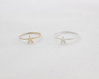 Tiny Star Ring // Sterling Silver or 14k Gold Filled