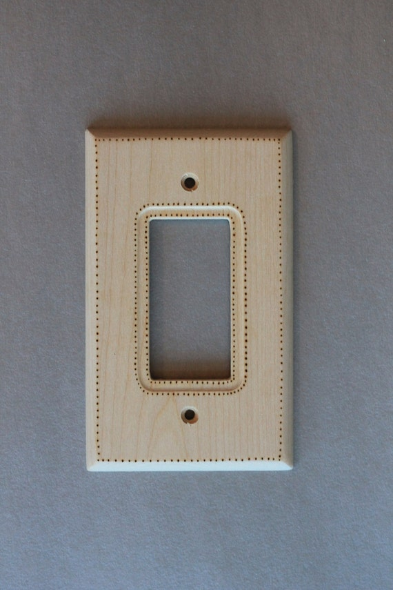 dotted pattern wall light switch plate cover brainerd woodburn. Black Bedroom Furniture Sets. Home Design Ideas