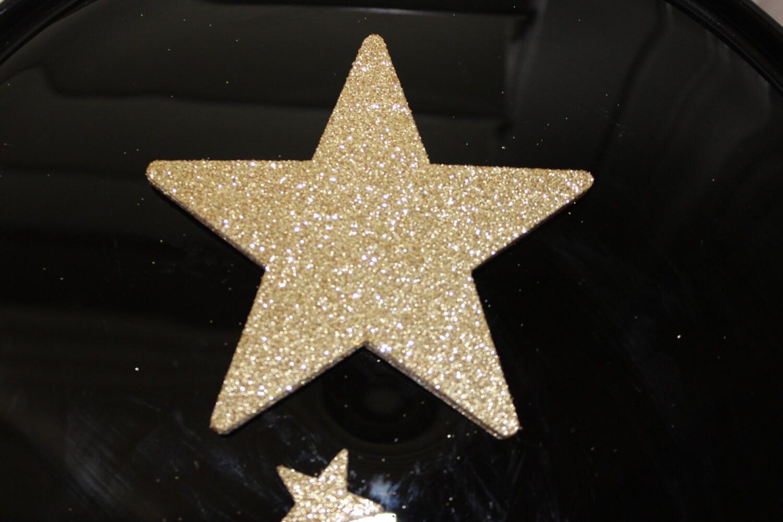 Large star die cuts gold glitter stars twinkle little