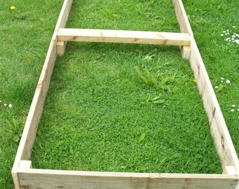 Large Tanalised Wooden Vegetable Raised beds, 15cm high, 180cm or 240cm Long