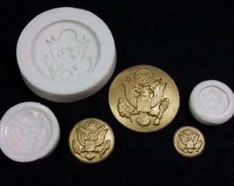 Army Button Silicone Mold Set of 3 Annette By Sugar Delites MOL822