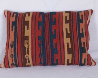 "PILLOW Antique UZBEK Hand Woven Fabric Wonderful Colors 1'10""x1'4""/57x41 cm FREE Shipping Item No. Y-104"