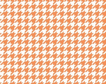 Orange and White Houndstooth by Riley Blake Designs