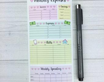 Kawaii Personal Jumbo Monthly Expenses Sticker (PERSONAL jumbo)