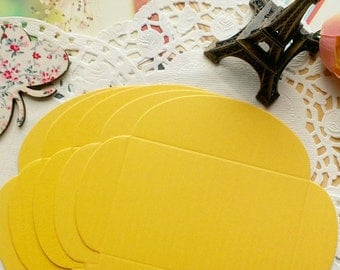 Mini Size DIY Textured Envelopes /Canary Yellow Shimmer/5 PCS/6x9cm