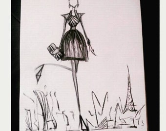 fashion sketch * but what Parisian! *