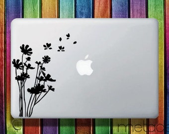 "Flowers Macbook Sticker Decal for 13"" and 15"" - laptop stickers, macbook stickers, macbook decals, macbook sticker, macbook pro stickers"