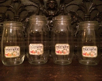ARC France Jars Set of 4 Bale Wire Sealing Jars (2) 2 Liter (2) 1.5 Liter