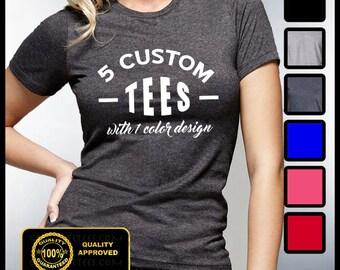 Custom T-shirt Mens Custom Shirt Personalized T-shirts
