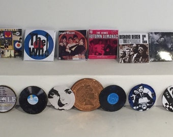 1/12th Set of mixed Mod themed records