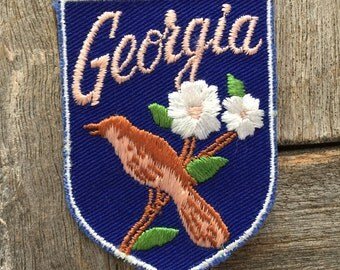 Georgia Vintage Souvenir Travel Patch from Voyager