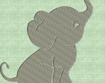 Elephant - EMBROIDERY DESIGN file - Instant download Exp Jef Vp3 Pes Dst Hus formats - 2 sizes one color