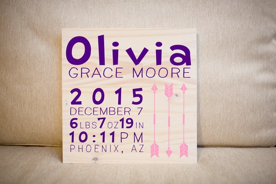 Personalized newborn baby gift sign nursery decor like this item negle Images
