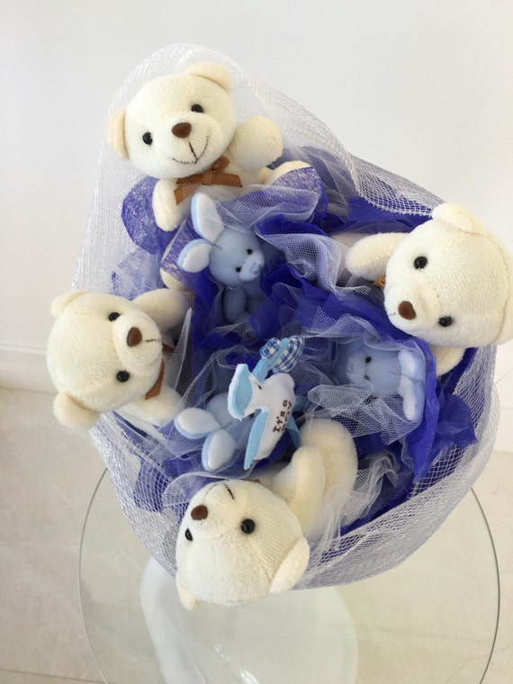 Toys For Boys Wedding : Bouquet of toys bear gift wedding saint by whimwhamminds