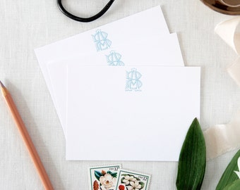 Custom Monogram Notecards/ Thank You Cards/ Stationery/Personalized/ Small