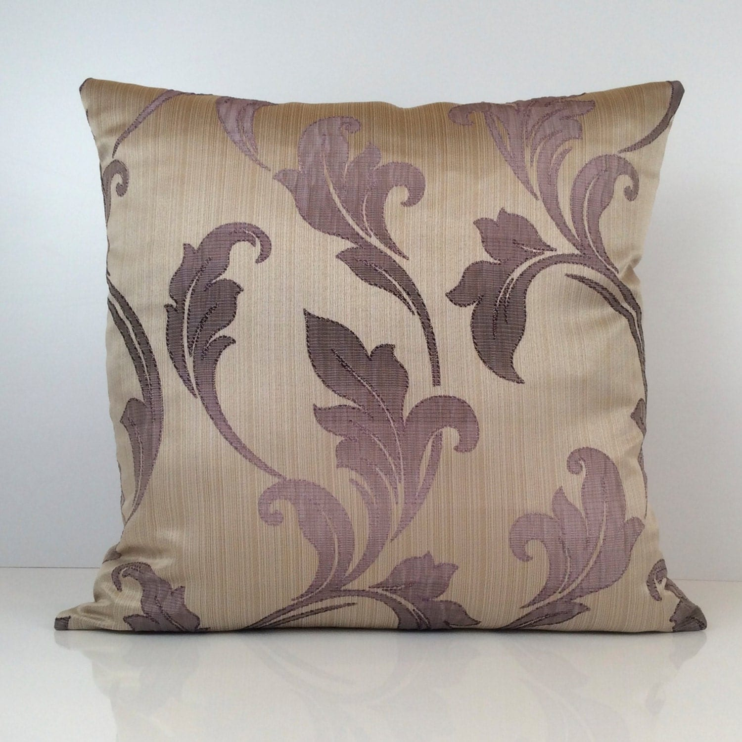 Purple Light Purple and Beige Pillow Throw Pillow Cover