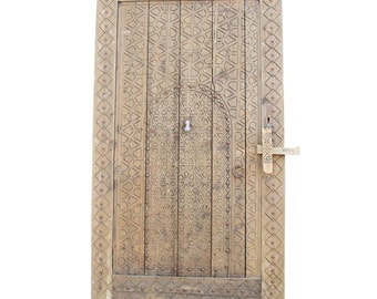 20% Off-19th C. Moroccan Carved Door, Egyptian Door, Vintage Door,  Carved door, Antique door, Moorish door, Indian door, Architectural door